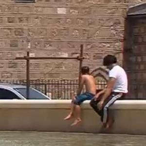 Како Скопјани ги користат фонтаните за разладување?