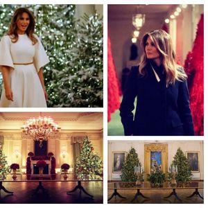 Четири години,различна магија: Божиќните украсувања на Меланија Трамп низ годините во Белата куќа