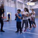 На тренинг со Александар Царчев во новата школа на Вардар