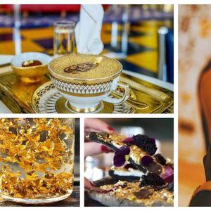 (Видео) Луксуз во Дубаи: пица, коктел или торта со прелив од злато