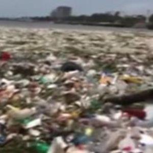 (Видео) Морето не може да се види од пластиката во него