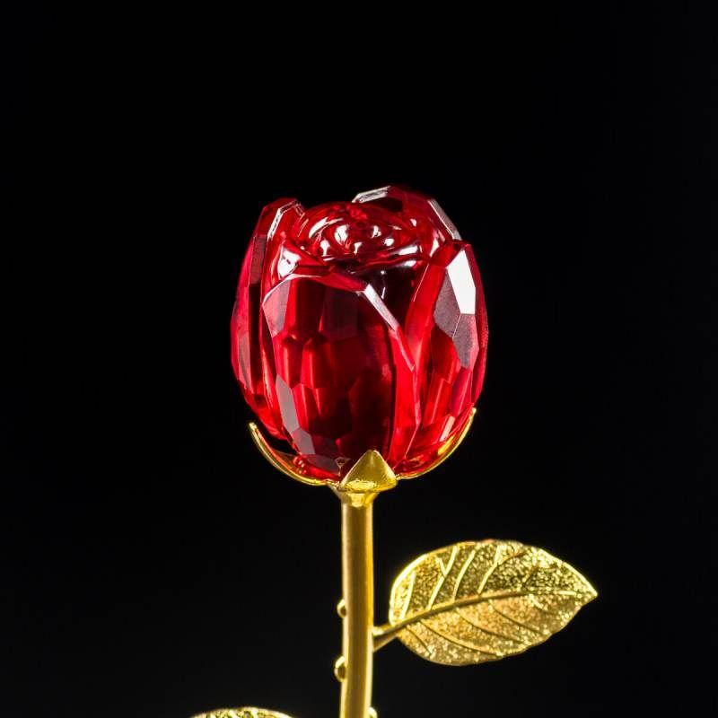 Róża kryształowa dla Babci - Prezent dla Niej - Statuetki i zdjęcia w krysztale Studio3D
