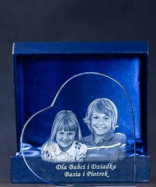 Kryształowe serce, Statuetka personalizowana dla Babci i Dziadka