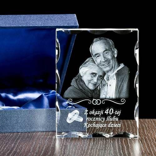 Fotokryształ / Prezent na rocznicę ślubu/ Prezenty okolicznościowe – Studio 3D