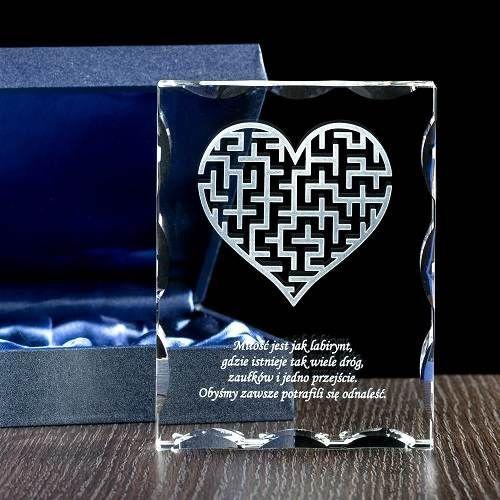 Fotokryształ personalizowany / Prezent na rocznicę ślubu/ Prezenty okolicznościowe – Studio 3D
