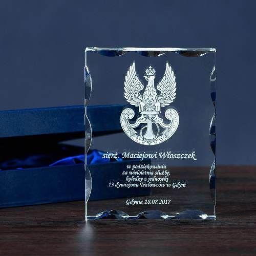 Pamiątka dla żołnierza - personalizowany kryształ