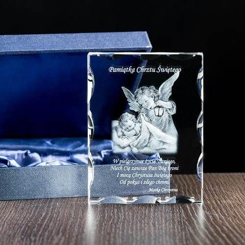 Fotokryształ z dedykacją / Pamiątki na chrzest święty/ Prezenty okolicznościowe – Studio 3D