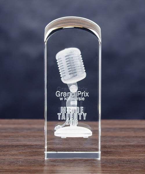 Mikrofon 3D w nagroda, podziękowanie dla muzyka