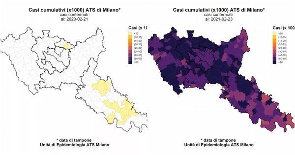 Così si è mosso il contagio nelle province di Milano e Lodi in un anno di Covid: il video in timelapse dell'Ats