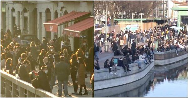 Covid, Milano e la Lombardia sono in zona 'arancione rafforzato' ma all'ora dell'aperitivo parte l'assalto a darsena e navigli - Il Fatto Quotidiano