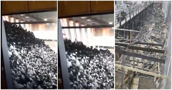 Gerusalemme, cede tribuna in una sinagoga: almeno 2 morti e centinaia di feriti. Ecco il momento del crollo e le macerie - Video - Il Fatto Quotidiano