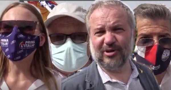 Lega in piazza a Roma, gli elettori di Salvini: Al Colle Berlusconi, Casellati o Draghi e poi meglio tornare al voto - Il Fatto Quotidiano