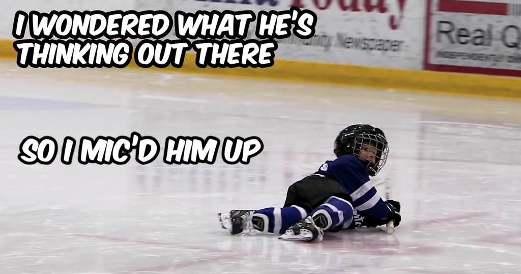 Dad Mics Up His 4-Year-Old At Hockey Practice To Learn What His Kid Is Rambling About When He Can't Hear