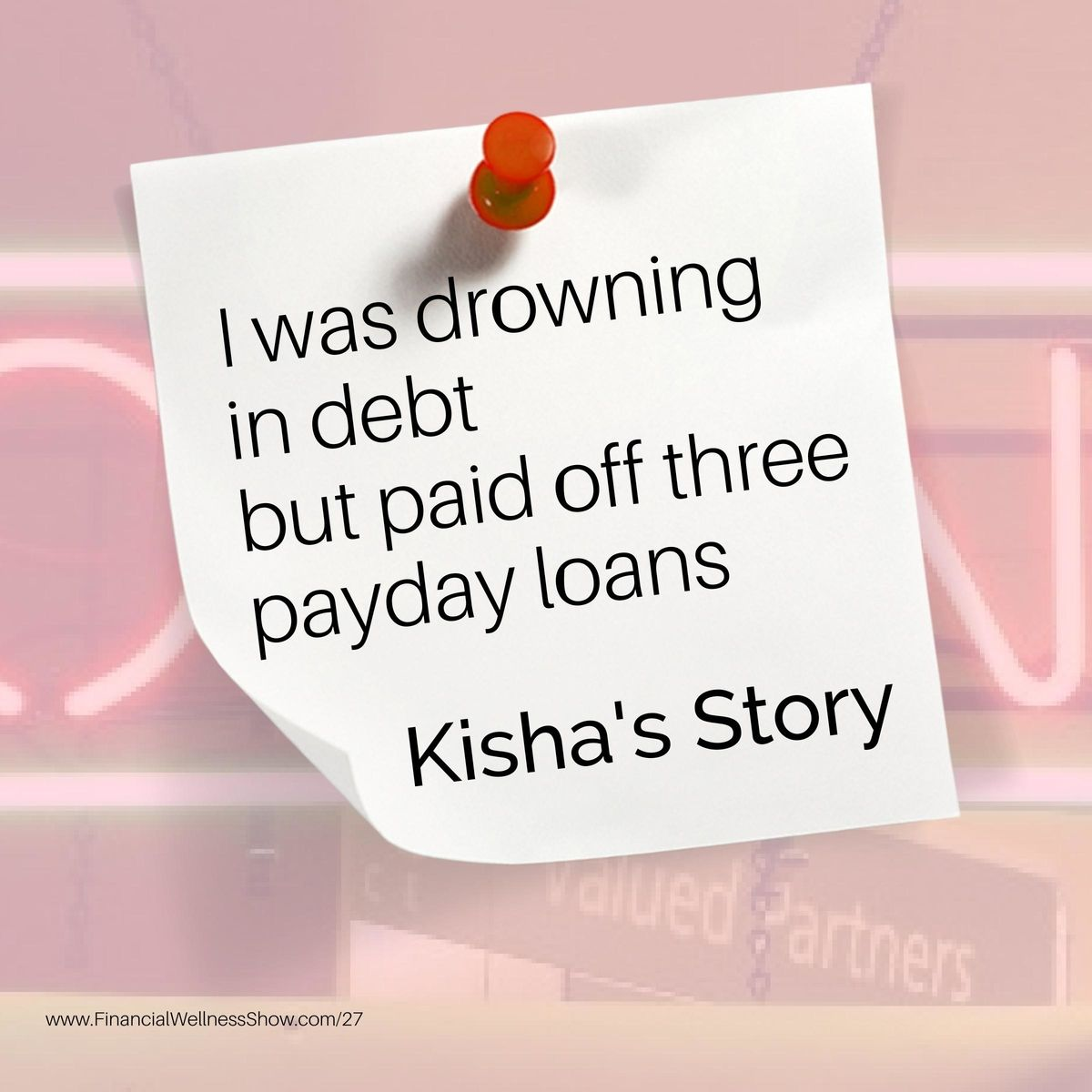 I was drowning in debt but paid off 3 Payday loans