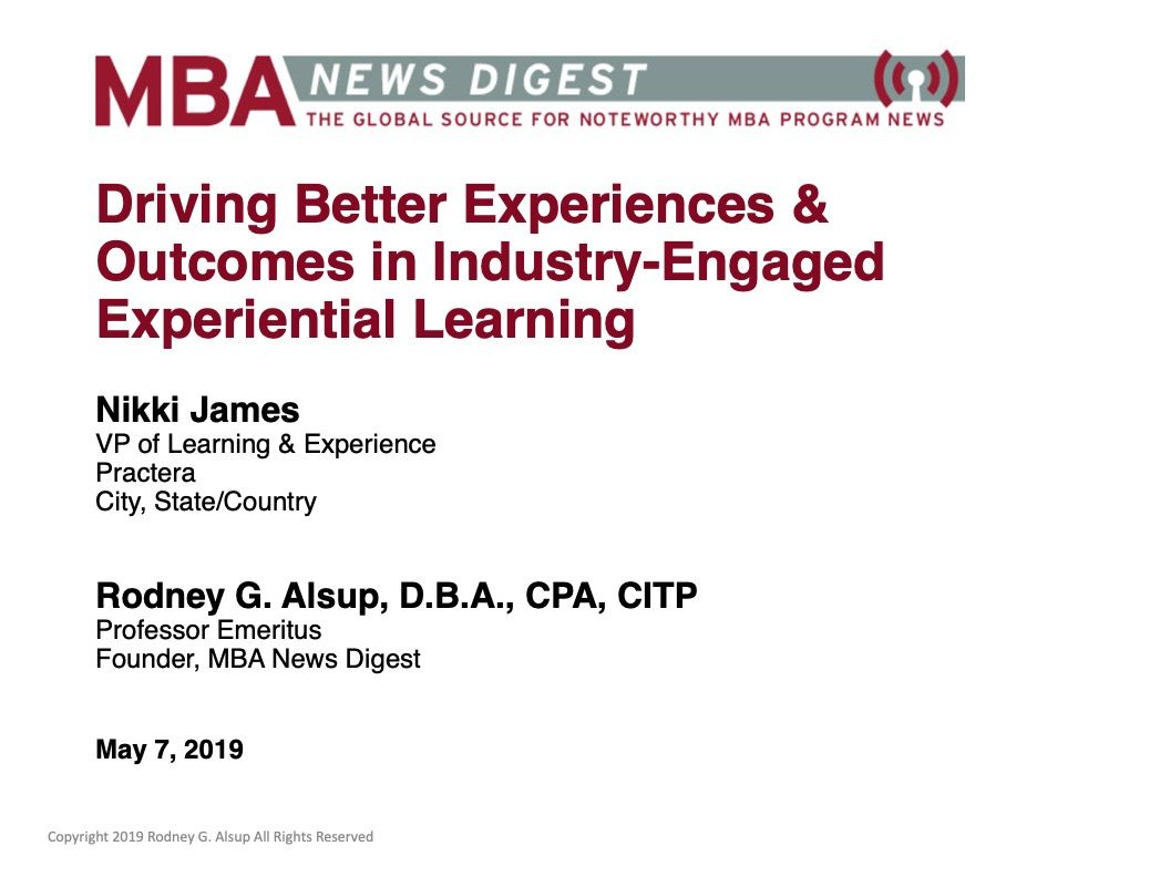 Driving Better Experiences & Outcomes in Industry-Engaged Experiential Learning