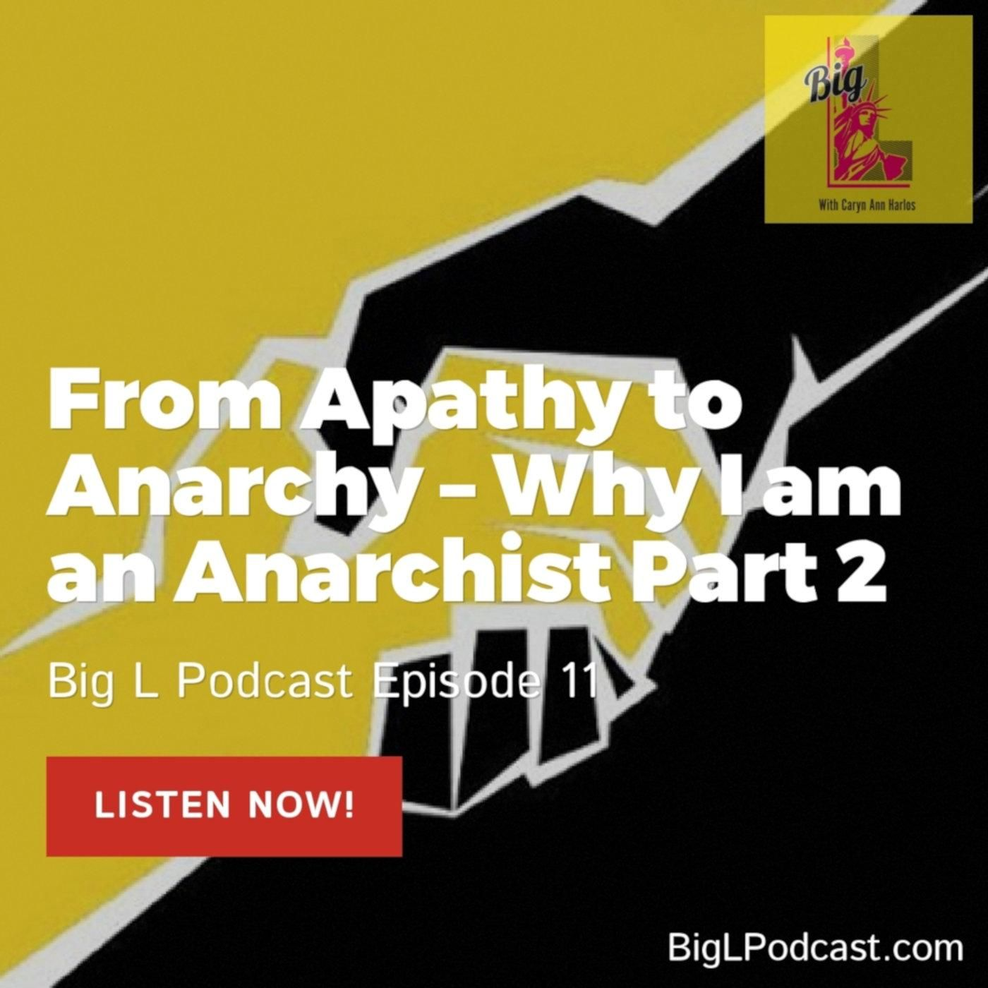 From Apathy to Anarchy – Why I am an Anarchist Part 2 - BL011