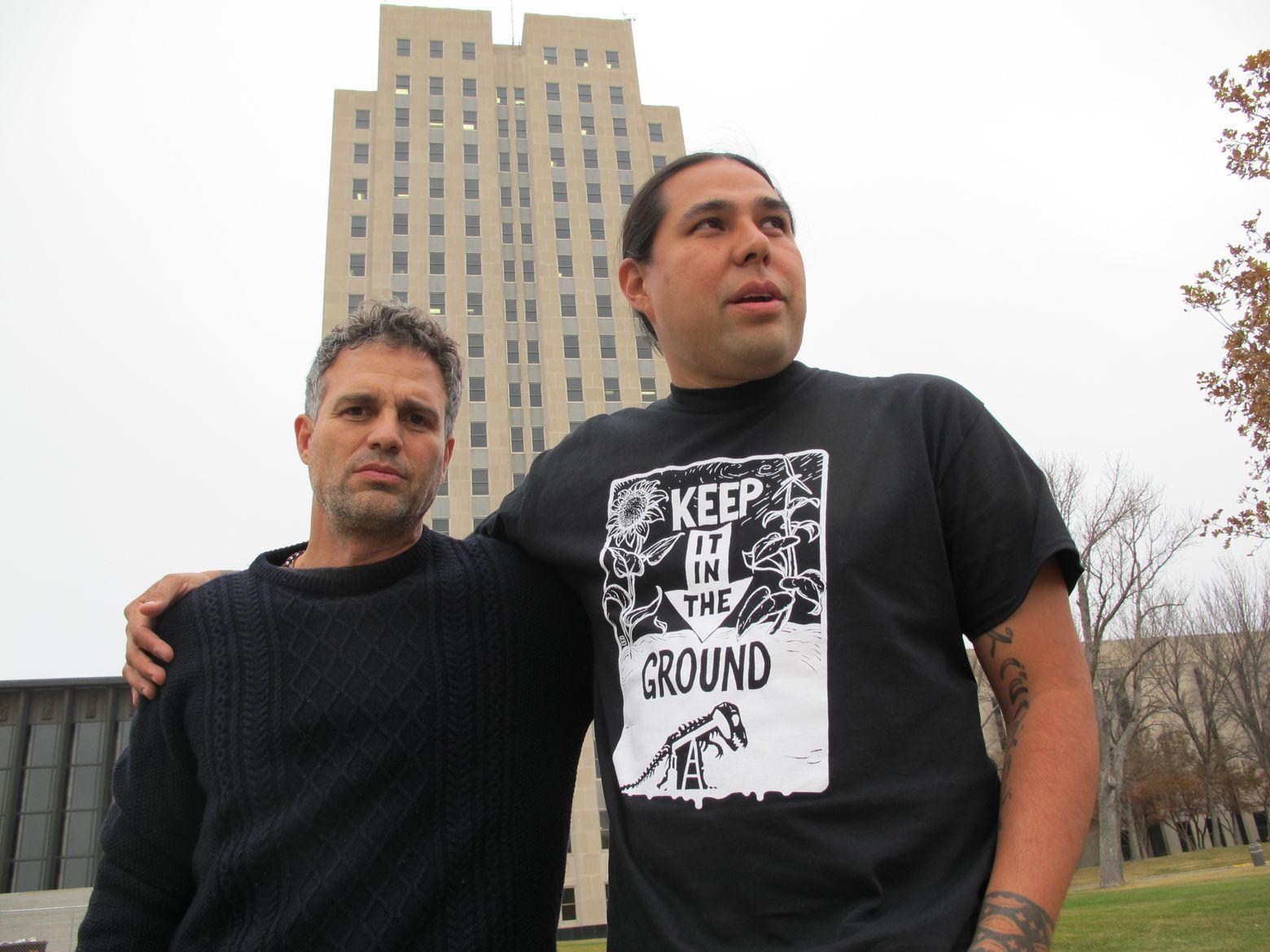 Actor Mark Ruffalo in North Dakota to oppose oil pipeline