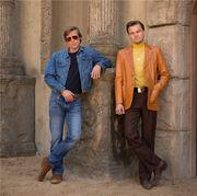 Brad Pitt和Leonardo DiCaprio最新造型!Quentin Tarantino新作首張劇照曝...