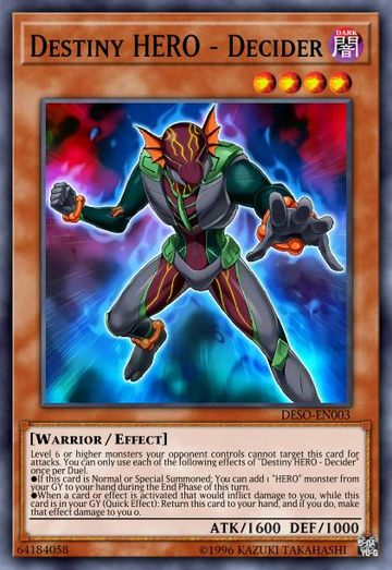 Duel Links Card: Destiny%20HERO%20-%20Decider