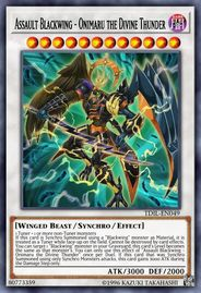 Duel Links Card: Assault%20Blackwing%20-%20Onimaru%20the%20Divine%20Thunder