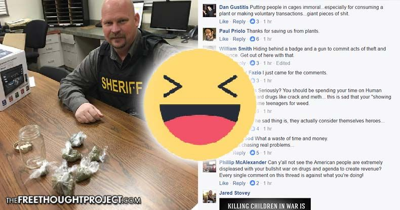 Cops Brag on Facebook About Tiny Pot Bust, Then The Internet Destroyed Them