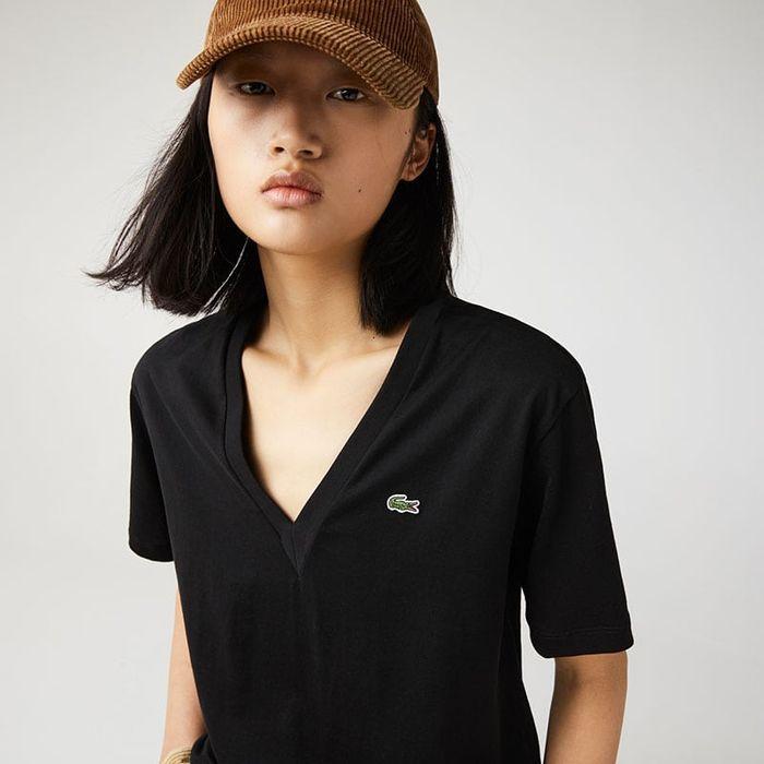 LACOSTE V-Neck Premium Cotton T-Shirt TF5458-00 031