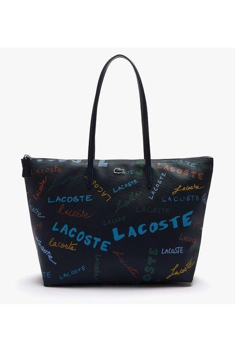 LACOSTE NF3623SJ H31 Print Large Piqué Canvas Shopper Bag