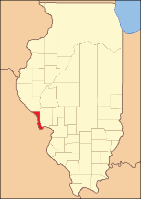 Calhoun County at the time of its creation in 1825.