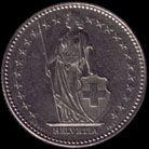 1瑞士法郎(1983年)硬币正面