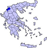 卡斯托里亚州在希腊的位置