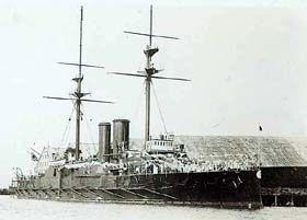 Japanese battleship Katori in 1906.jpg
