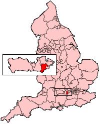 布拉克内尔森林在伯克郡的位置