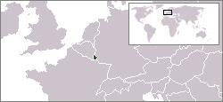 Geografisk plassering av Luxemb(o)urg