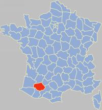 热尔省在法国的位置