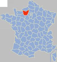 厄尔省在法国的位置
