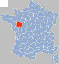 曼恩-卢瓦尔省在法国的位置