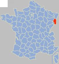 上莱茵省在法国的位置