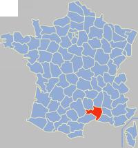 加尔省在法国的位置