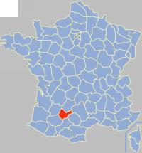 塔恩-加龙省在法国的位置