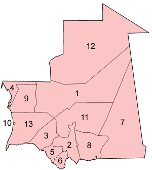 毛里塔尼亚的行政区
