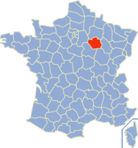 奥布省在法国的位置