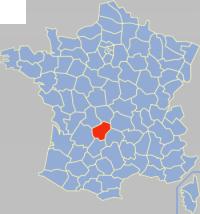 科雷兹省在法国的位置