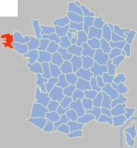 菲尼斯泰尔省在法国的位置