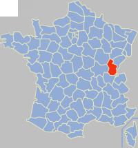 汝拉省在法国的位置