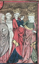 Illustration from a 14th-century French poem