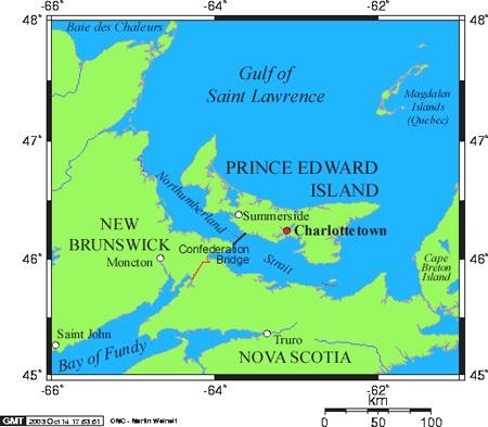 爱德华王子岛地图