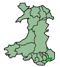 纽波特zh-hk:新港在威尔士的位置