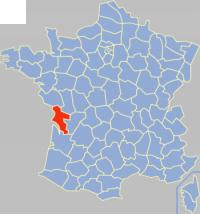 滨海夏朗德省在法国的位置