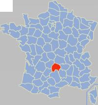 康塔尔省在法国的位置