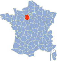 厄尔-卢瓦省在法国的位置